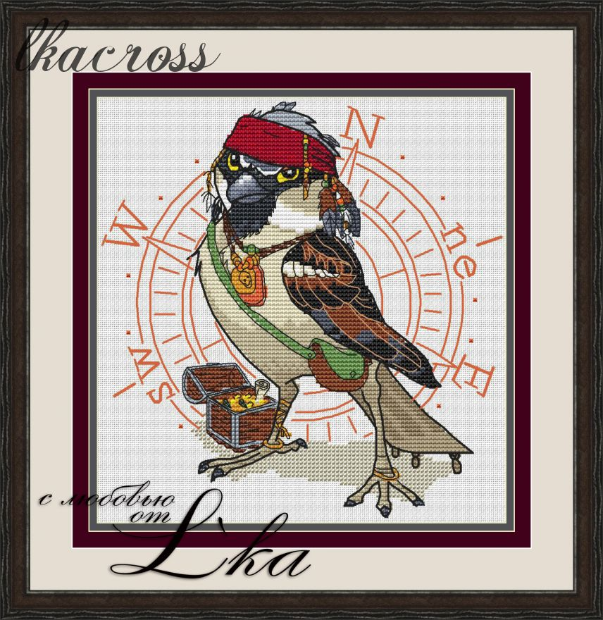 """Jack Sparrow"". Digital cross stitch pattern."