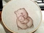 "Cross stitch pattern ""Parental care""."