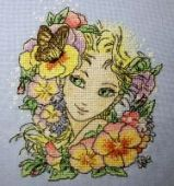 "Cross stitch pattern ""Summer girl""."