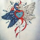 "Cross stitch pattern ""Swans""."