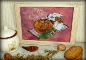 "Cross stitch pattern ""Tea ceremony""."