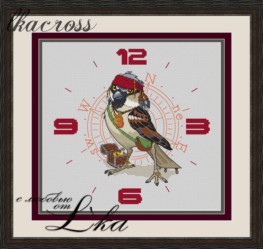 """Jack Sparrow - Watch"". Digital cross stitch pattern."