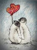 """Cross stitch pattern """"Together forever""""."""