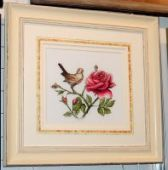 "Cross stitch pattern ""The Nightingale and the rose""."