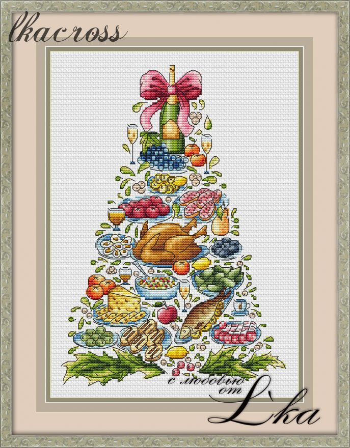 """Christmas tree"". Digital cross stitch pattern."
