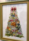 "Cross ctitch pattern ""Christmas tree""."