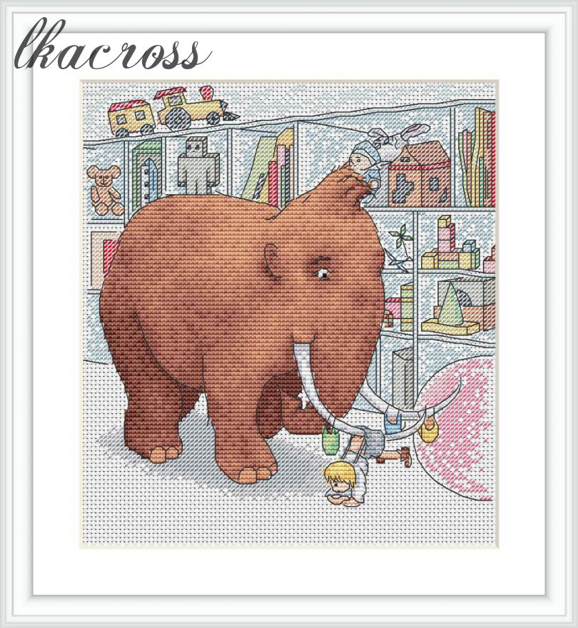 """In the store"". Digital cross stitch pattern."