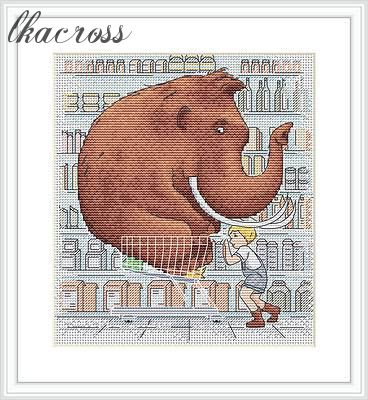 """Shopping"". Digital cross stitch pattern."