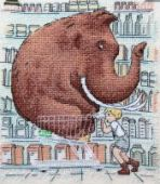 "Cross stitch pattern ""Shopping""."