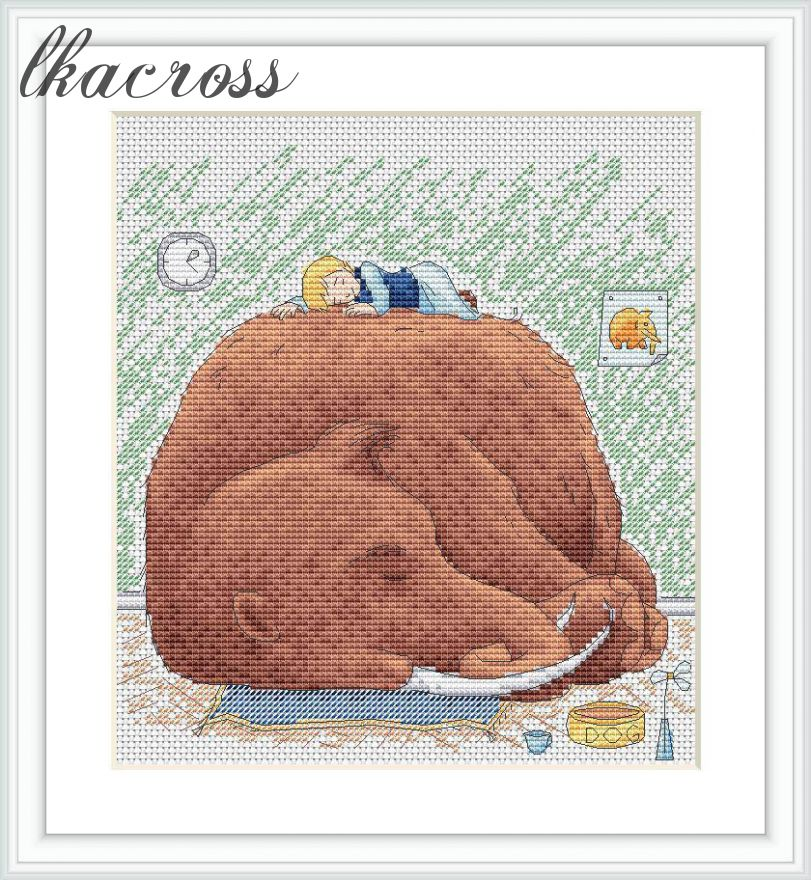 """Quiet hours"". Digital cross stitch pattern."