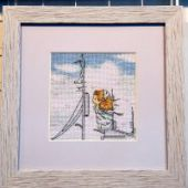 "Cross stitch pattern ""On the pier""."