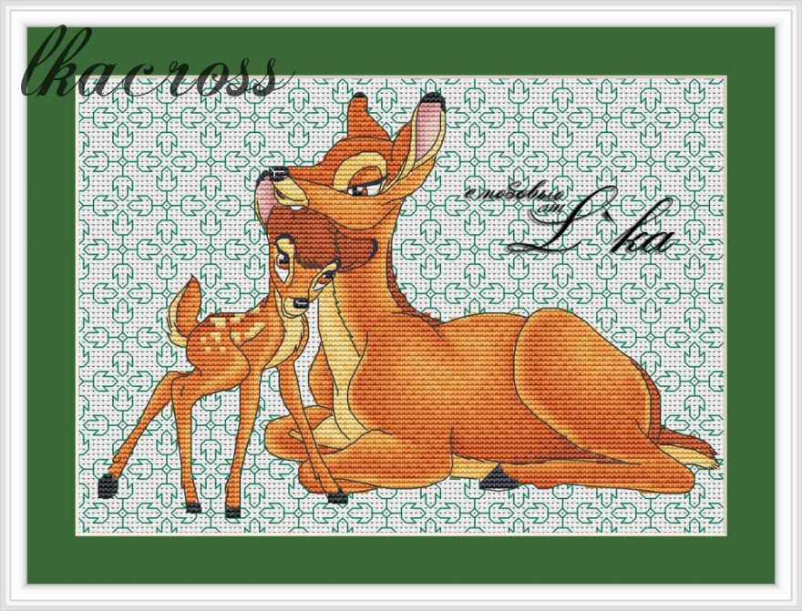 """Bambi"". Digital cross stitch pattern."