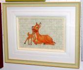"""Cross stitch pattern """"Bambi""""."""