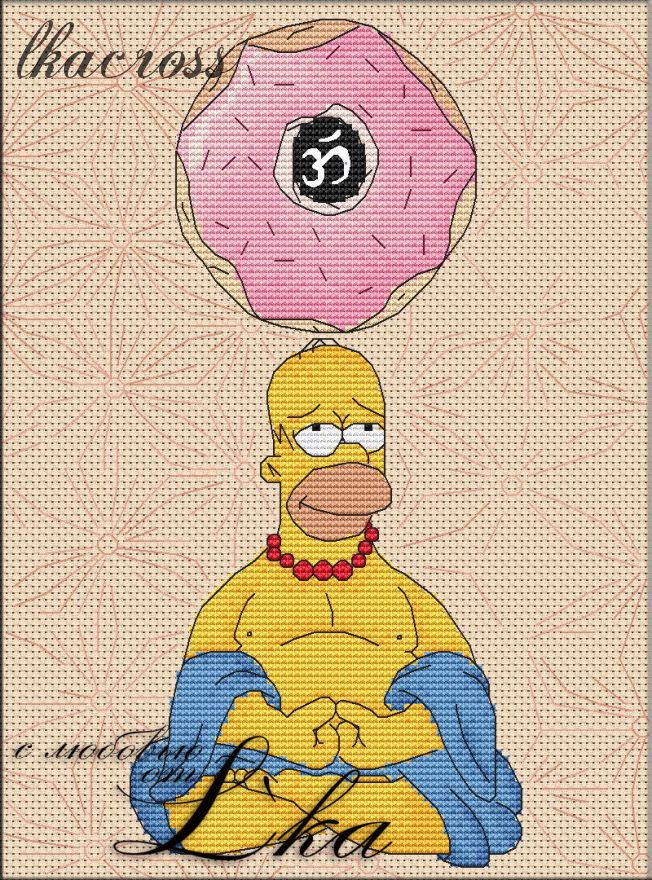"""Homer"". Digital cross stitch pattern."