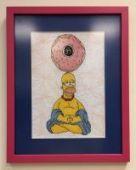 "Cross stitch pattern ""Homer""."