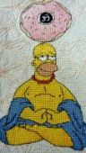 "Cross stitch pattern ""Homer""."