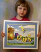 "Cross stitch pattern ""The simpsons""."
