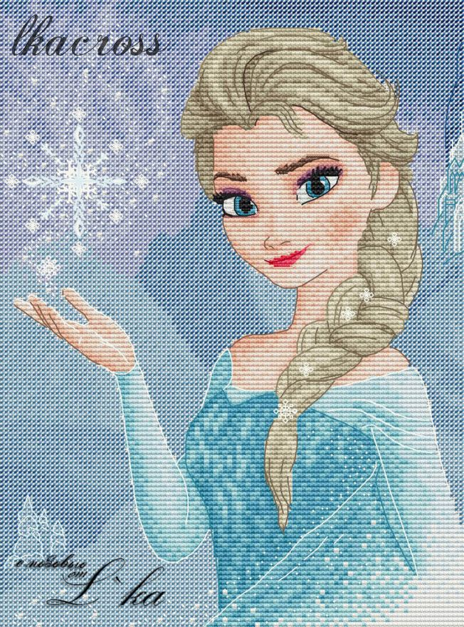 """Elsa"". Digital cross stitch pattern."