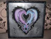 "Cross stitch pattern ""Dragon heart""."
