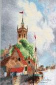"Cross stitch pattern ""Dutch harbour""."