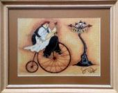 "Cross stitch pattern ""French chef - 1""."