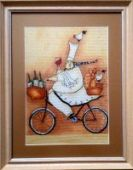 "Cross stitch pattern ""French chef - 2""."