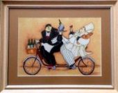 "Cross stitch pattern ""French chef - 3""."