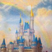 """Cross stitch pattern """"Fairytale castle""""."""