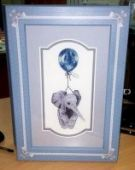 "Cross stitch pattern ""Elephant on a baloon""."