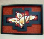 """Cross stitch pattern """"Calla lilies""""."""