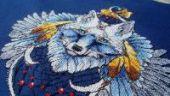 """Cross stitch pattern """"Wolf2""""."""