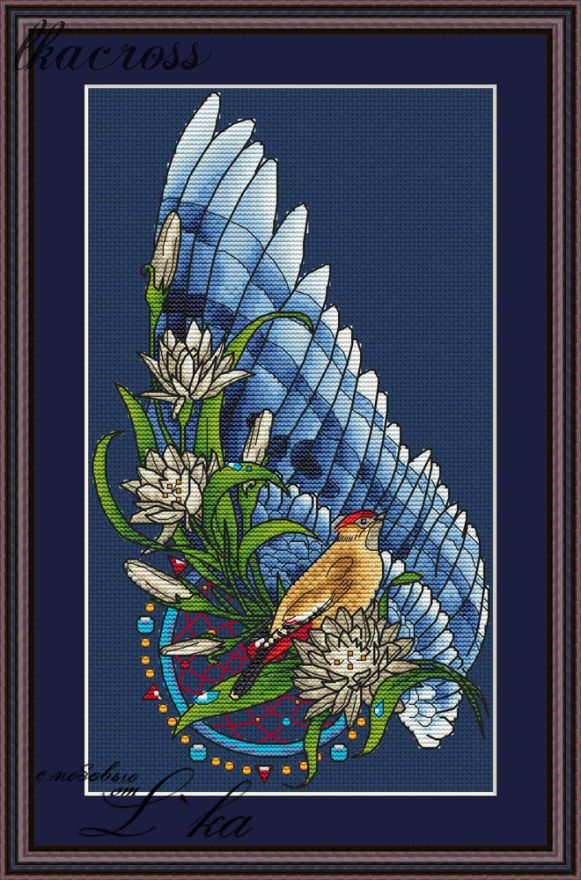 """Bird"". Digital cross stitch pattern."