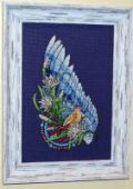 "Cross stitch pattern ""Bird""."