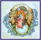 "Cross stitch pattern ""Little fox""."