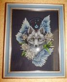 "Cross stitch pattern ""Wolf1""."