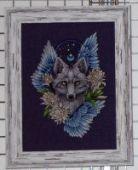 """Cross stitch pattern """"Wolf1""""."""