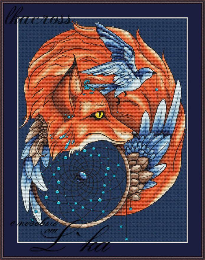 """""""Fox2"""". Digital cross stitch pattern."""