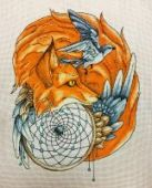 "Cross stitch pattern ""Fox2""."
