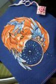 "Cross stitch pattern ""Fox2""."