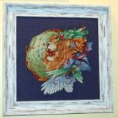 "Cross stitch pattern ""Lion2""."