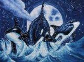 "Cross stitch pattern ""Orcas""."