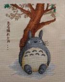 """Cross stitch pattern """"Totoro""""."""