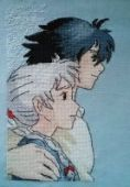 "Cross stitch pattern ""Howl's moving castle - 2""."