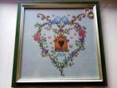 "Cross stitch pattern ""Family hearth""."