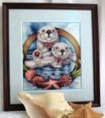 "Cross stitch pattern ""Otters""."