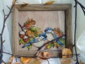 "Cross stitch pattern ""Hard-working birds""."