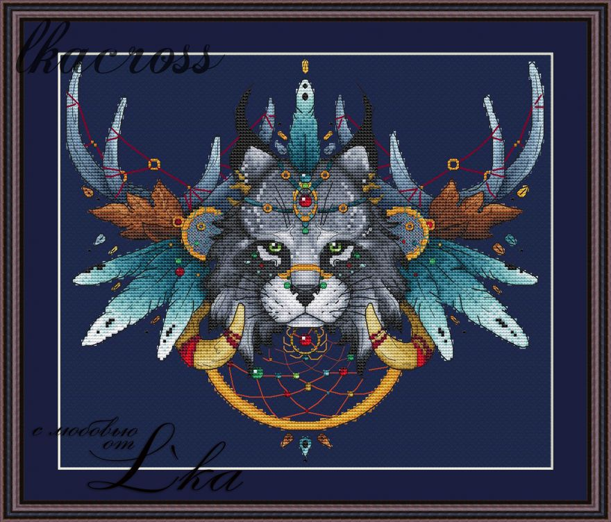 """Lynx"". Digital cross stitch pattern."