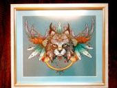 "Cross stitch pattern ""Lynx""."