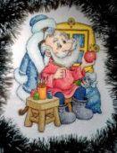 "Cross stitch pattern ""Santa's Workshop""."