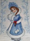 "Cross stitch pattern ""Snowgirl""."